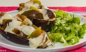 Aubergines grillées aux figues, tomates et mozzarella
