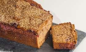 Gâteau du matin au sarrasin et aux framboises