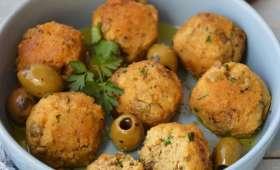Boulettes de protéines de soja aux olives