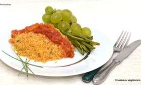 Couscous végétarien, sauce tomates