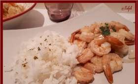 Poêlée de Crevettes aux Curry -