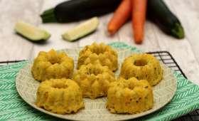 Gâteau de riz salé aux courgettes et carottes