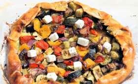 Tarte rustique courgettes, poivrons et aubergines