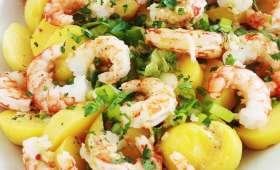 Salade pommes de terre crevettes