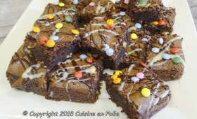 Brownie aux chocolat, noix, cacahuètes et noix de cajou