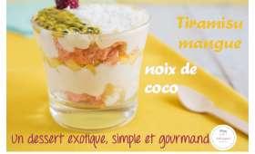 Tiramisu mangue noix de coco
