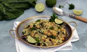 Curry de pois-chiches aux blettes