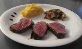 Magret de Canard au Miel et Vinaigre Balsamique, Purée Pommes de Terre/Butternut, Endives Caramélisées
