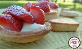 Tartelettes à la fraise et au chocolat blanc
