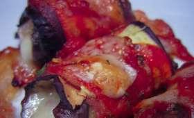 Roulés d'aubergine à la mozzarella