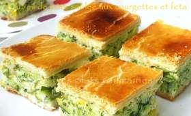 Cubes de pâte sablée aux courgettes et feta