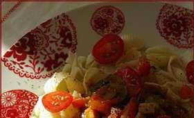 Pâtes à la sauce créole et aux champignons