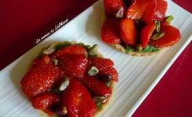 Tartelettes de fraises à la pistache