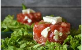 Tartare de tomate et mozzarella
