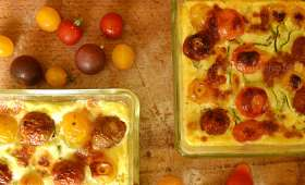 Flan de courgette tomate cerise bio