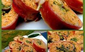 Roulé de Poulet épicé au Jambon de Parme et Pesto