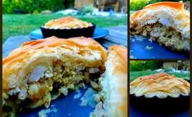 Pastilla de poulet en fine tartelette