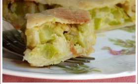Tourte de courgette comme à Nice (pâte fine à l'huile d'olive)