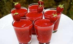 Soupe de fraises-framboises