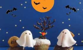 Mini Cakes Coco au Coeur de Chocolat, Farandole de Fantômes et Chauve-souris