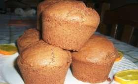 Petits cakes à l'orange et cacao