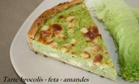 Tarte brocolis - feta - amandes