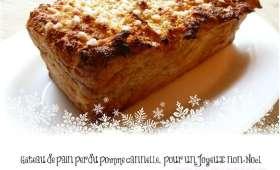Gâteau de pain perdu pomme cannelle