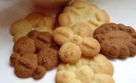 Sablés à la presse à biscuit