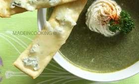 Crème d'épinards et lingue gorgonzola