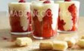 Tiramisu aux fraises et aux framboises