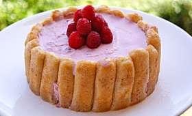 Charlotte fraises-framboises