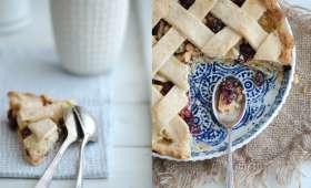 Tourte aux pommes, canneberges et miel