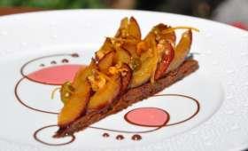 La Tarte aux Pruneaux, biscuit Cannelle et Orange confite