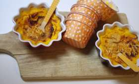 Flans aux carottes, curry et moutarde