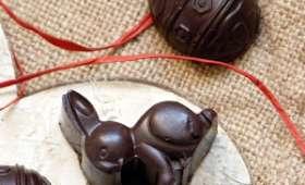 Chocolats de Pâques à la pâte d'amande