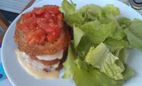Pain perdu à la tomate et au brie