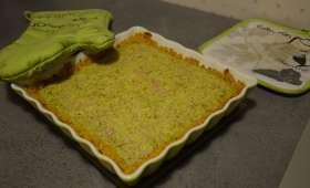 Tarte couscous brocoli, curcuma et sésame
