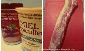 Filet mignon de porc, sauce miel tamarin