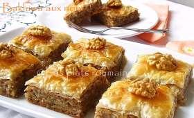 Les plats roumaines: Baklawa aux noix