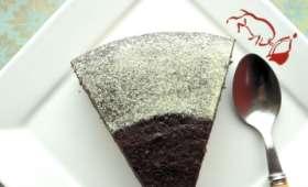 Gâteau au chocolat, betterave et amande