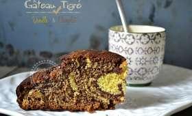 Gâteau tigré vanille chocolat et sa crème anglaise maison