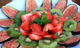 Carpaccio de fruits au sirop de menthe poivré