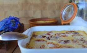 Clafoutis aux abricots et à la lavande