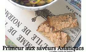 "Salade tiède primeur ""entre terre et mer"""
