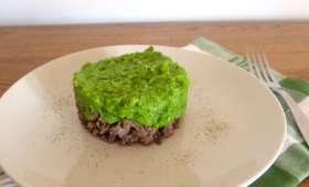 Parmentier à la purée de haricots verts et thym