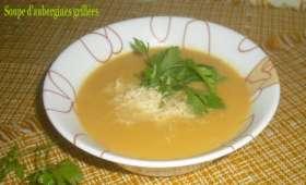 Soupe d'aubergines grillées