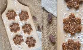 Biscuits crus au cacao et à la maca