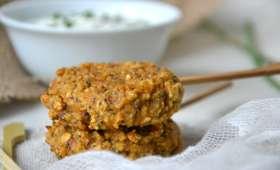 Galettes-sucettes apéritives & végétales aux tomates séchées, graines de pavot et ciboulette