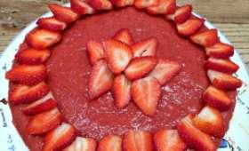 Raw cheesecake aux fraises