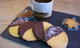 Sablés citron et nappage chocolat